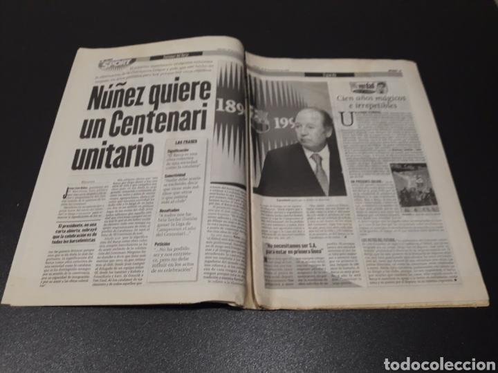 Coleccionismo deportivo: SPORT. N° 6.859. 28/11/1998. F.C.BARCELONA CENTENARIO 1899/1999. - Foto 3 - 138778202