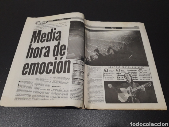 Coleccionismo deportivo: SPORT. N° 6.859. 28/11/1998. F.C.BARCELONA CENTENARIO 1899/1999. - Foto 4 - 138778202