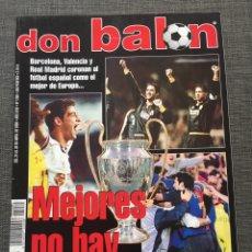 Coleccionismo deportivo: DON BALÓN 1280 - COPAS EUROPEAS - PÓSTER GERARD - JUANELE - KHAN - ELBER - JUVENTUS. Lote 138870650