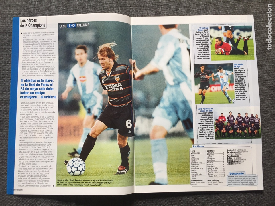 Coleccionismo deportivo: Don balón 1280 - Copas Europeas - Póster Gerard - Juanele - Khan - Elber - Juventus - Foto 3 - 138870650