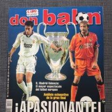 Coleccionismo deportivo: DON BALÓN 1283 - FINAL CHAMPIONS VALENCIA VS MADRID - PÓSTER PIOJO LÓPEZ - DEPORTIVO - BOCA JUNIORS. Lote 138871725