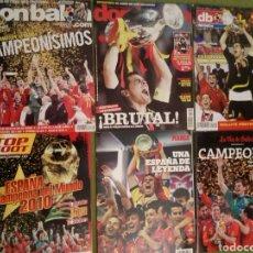 Coleccionismo deportivo: LOTE REVISTAS ESPAÑA CAMPEONA DE EUROPA 2008 Y 2012 Y CAMPEÓN DEL MUNDO 2010 SUDÁFRICA. Lote 139095921