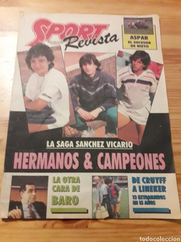 SPORT REVISTA DOMINICAL DEPORTES 1988 FUTBOL TENIS (Coleccionismo Deportivo - Revistas y Periódicos - Sport)