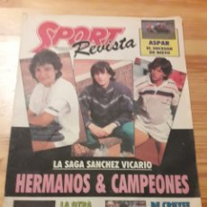 Coleccionismo deportivo: SPORT REVISTA DOMINICAL DEPORTES 1988 FUTBOL TENIS. Lote 139116974