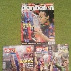 Coleccionismo deportivo: FC BARCELONA CAMPEÓN DE EUROPA 2006. DON BALÓN 2 REVISTAS Y 1 PÓSTER GIGANTE. BARÇA. Lote 139246576