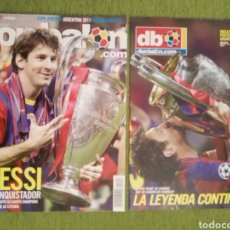 Coleccionismo deportivo: FC BARCELONA CAMPEÓN DE EUROPA 2011. REVISTA DON BALÓN Y PÓSTER GIGANTE. BARÇA. Lote 139246968