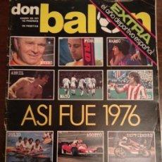 Coleccionismo deportivo: REVISTA DON BALON AÑO II NUMERO ESPECIAL 1977 EXTRA AÑO DEPORTIVO ESPAÑOL ASI FUE 1976. Lote 139700022