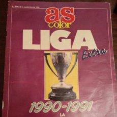 Coleccionismo deportivo: AS COLOR EXTRA LIGA 1990-91 POSTER REAL MADRID PLANTILLA. Lote 139700538