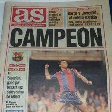 Coleccionismo deportivo: PERIODICO AS 15 MAYO 1994 BARCELONA CAMPEON DEPORTIVO LA CORUÑA SUBCAMPEON. Lote 140118294
