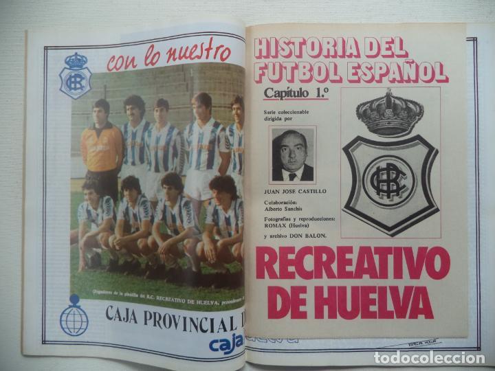 Coleccionismo deportivo: REVISTA DON BALON Nº 434 DEL 31 ENERO AL 6 DE FEBRERO 1984 CUADERNILLO Y POSTER R.HUELVA - Foto 2 - 140167618