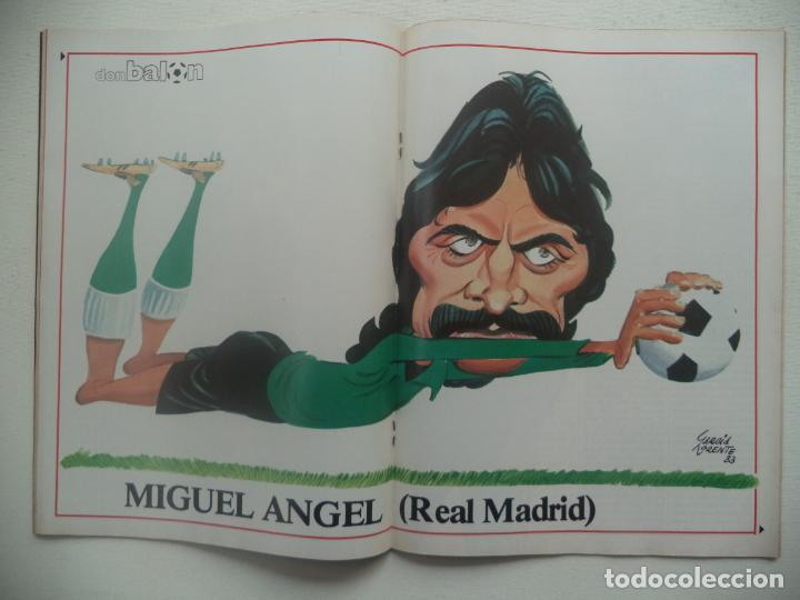 Coleccionismo deportivo: REVISTA DON BALON Nº 427 DEL 13 AL 19 DE DICIEMBRE 1983 POSTER CARICATURA DE MIGUEL ANGEL R.MADRID - Foto 2 - 140168374