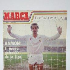 Colecionismo desportivo: REVISTA DE DEPORTE-MARCA SUPERCOLOR / RAMON GOLEADOR SEVILLA AÑO 2 Nº 29-ESPACIO EDITORIAL -AÑOS 80. Lote 140214974