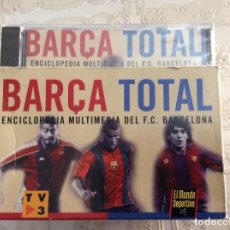 Coleccionismo deportivo: BARÇA TOTAL ENCICLOPEDIA MULTIMEDIA DEL F.C. BARCELONA 10 CD PRECINTADOS, NUEVA. Lote 140290554