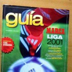 Coleccionismo deportivo: GUIA MARCA LIGA 2001 EN BUEN ESTADO. Lote 140507958