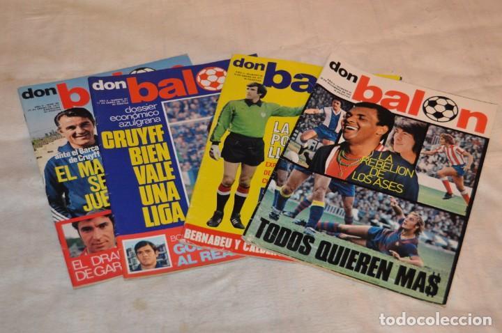 LOTE DE 4 REVISTAS DON BALÓN - AÑOS 70 - Nº 65. 66, 67 Y 68 - GRADESA - HAZ OFERTA - LOTE 01 (Coleccionismo Deportivo - Revistas y Periódicos - Don Balón)