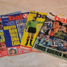 Coleccionismo deportivo: LOTE DE 4 REVISTAS DON BALÓN - AÑOS 70 - Nº 65. 66, 67 Y 68 - GRADESA - HAZ OFERTA - LOTE 01. Lote 140632314