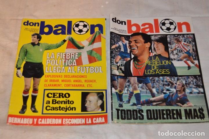 Coleccionismo deportivo: LOTE DE 4 REVISTAS DON BALÓN - AÑOS 70 - Nº 65. 66, 67 Y 68 - GRADESA - HAZ OFERTA - LOTE 01 - Foto 2 - 140632314