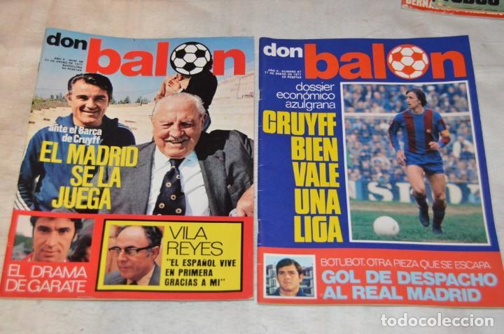 Coleccionismo deportivo: LOTE DE 4 REVISTAS DON BALÓN - AÑOS 70 - Nº 65. 66, 67 Y 68 - GRADESA - HAZ OFERTA - LOTE 01 - Foto 3 - 140632314