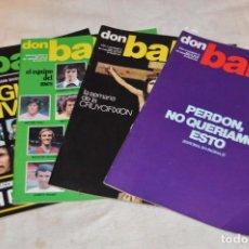 Coleccionismo deportivo: LOTE DE 4 REVISTAS DON BALÓN - AÑOS 70 - Nº 69, 70, 71 Y 72 - GRADESA - HAZ OFERTA - LOTE 02. Lote 140632542