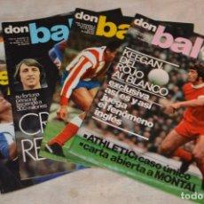 Coleccionismo deportivo: LOTE DE 4 REVISTAS DON BALÓN - AÑOS 70 - Nº 75, 76, 77 Y 78 - GRADESA - HAZ OFERTA - LOTE 03. Lote 140632814