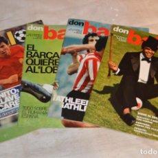 Coleccionismo deportivo: LOTE DE 4 REVISTAS DON BALÓN - AÑOS 70 - Nº 79, 80, 82 Y 84 - GRADESA - HAZ OFERTA - LOTE 04. Lote 140633054