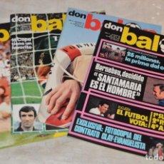 Coleccionismo deportivo: LOTE DE 4 REVISTAS DON BALÓN - AÑOS 70 - Nº 85, 87, 88 Y 89 - GRADESA - HAZ OFERTA - LOTE 05. Lote 140633458