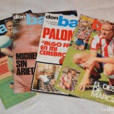Coleccionismo deportivo: LOTE DE 4 REVISTAS DON BALÓN - AÑOS 70 - Nº 90, 91, 92 Y 93 - GRADESA - HAZ OFERTA - LOTE 06. Lote 140633674