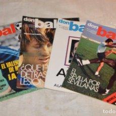 Coleccionismo deportivo: LOTE DE 4 REVISTAS DON BALÓN - AÑOS 70 - Nº 95, 96, 97 Y 98 - GRADESA - HAZ OFERTA - LOTE 07. Lote 140633810