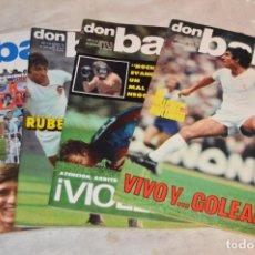 Coleccionismo deportivo: LOTE DE 4 REVISTAS DON BALÓN - AÑOS 70 - Nº 99, 100, 101 Y 102 - GRADESA - HAZ OFERTA - LOTE 08. Lote 140634070