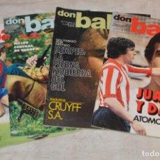 Coleccionismo deportivo: LOTE DE 4 REVISTAS DON BALÓN - AÑOS 70 - Nº 103, 104, 105 Y 106 - GRADESA - HAZ OFERTA - LOTE 09. Lote 140634254