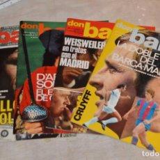 Coleccionismo deportivo: LOTE DE 4 REVISTAS DON BALÓN - AÑOS 70 - Nº 108, 110, 111 Y 112 - GRADESA - HAZ OFERTA - LOTE 10. Lote 140634522