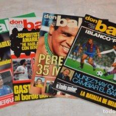 Coleccionismo deportivo: LOTE DE 4 REVISTAS DON BALÓN - AÑOS 70 - Nº 113, 114, 115 Y 116 - GRADESA - HAZ OFERTA - LOTE 11. Lote 142630557
