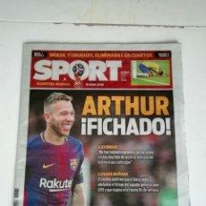 Coleccionismo deportivo: SPORT: FICHAJE DE ARTHUR POR EL F.C. BARCELONA. Lote 140831006