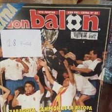 Coleccionismo deportivo: DON BALON - REAL ZARAGOZA EXTRA RECOPA 1995. Lote 141416402