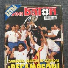 Coleccionismo deportivo: DON BALÓN EXTRA 29 ZARAGOZA CAMPEÓN RECOPA - INCLUYE PÓSTER. Lote 141535685