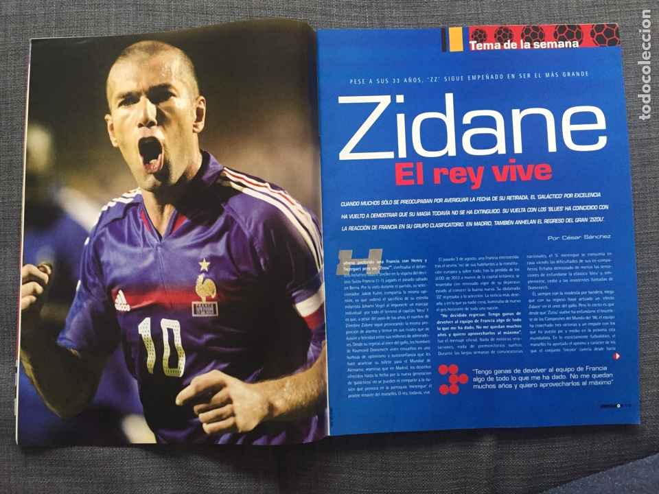 Coleccionismo deportivo: Don balón 1565 - Zidane - Torres - Póster Ronaldinho - George Best - Foto 2 - 141549565