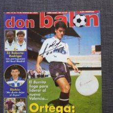 Coleccionismo deportivo: DON BALÓN 1117 - BURRITO ORTEGA (PORTADA CON SU AUTÓGRAFO) - PÓSTER VALLADOLID - DJUKIC - C.EUROPEAS. Lote 141558812