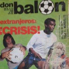 Coleccionismo deportivo: REVISTA DON BALON - NUMERO 276 - EXTRANJEROS CRISIS - BUEN ESTADO. Lote 141590690