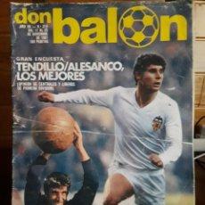 Coleccionismo deportivo: DON BALÓN 319 - TENDILLO - PICHI ALONSO - ARSENIO IGLESIAS. Lote 141591166