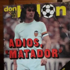Coleccionismo deportivo: DON BALON Nº 284 1981 COLOR MEGIDO HERCULES- KEMPES VALENCIA -PARTIDO BARCELONA VS ATLETICO MAD. Lote 141591290