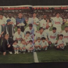 Coleccionismo deportivo: DON BALÓN 1075 - CRUYFF - PÓSTER COMPOSTELA - REAL MADRID - SOLOZÁBAL ATLÉTICO - PREVIA FINAL CHAM. Lote 141700618
