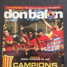Coleccionismo deportivo: DON BALÓN 1544 - BARCELONA CAMPEÓN LIGA (PÓSTER) - LUIS FERNÁNDEZ - REGUEIRO RACING. Lote 141793058