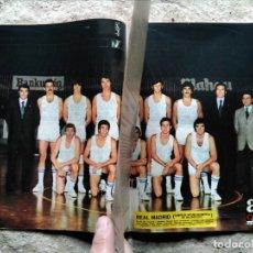 Coleccionismo deportivo: AS COLOR 283 PÓSTER REAL MADRID BALONCESTO. Lote 142058146