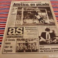 Coleccionismo deportivo: AS(2-2-87)AT.MADRID 1 SABADELL 1,BARÇA 3 R.MADRID 2,RAYO 2 JEREZ 2,PINO(CICLISMO). Lote 142090602