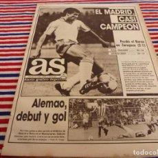 Colecionismo desportivo: AS(18-5-87) AT.MADRID 3 BETIS 2,ZARAGOZA 2 BARÇA 1,ALEMAO DEBUTA Y MARCA CON AT.MADRID. Lote 142096158