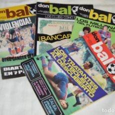 Coleccionismo deportivo: LOTE DE 4 REVISTAS DON BALÓN - AÑOS 70 - Nº 53, 54, 55 Y 56 - GRADESA - HAZ OFERTA - ENVÍO 24H. Lote 142239506