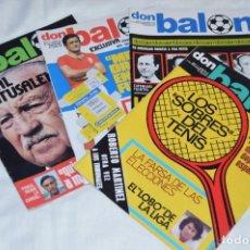 Coleccionismo deportivo: LOTE DE 4 REVISTAS DON BALÓN - AÑOS 70 - Nº 57, 58, 59 Y 60 - GRADESA - HAZ OFERTA - ENVÍO 24H. Lote 142239606