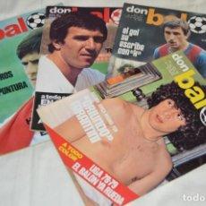 Coleccionismo deportivo: LOTE DE 4 REVISTAS DON BALÓN - AÑOS 70 - Nº 145, 151, 152 Y 154 - GRADESA - HAZ OFERTA - ENVÍO 24H. Lote 142239914