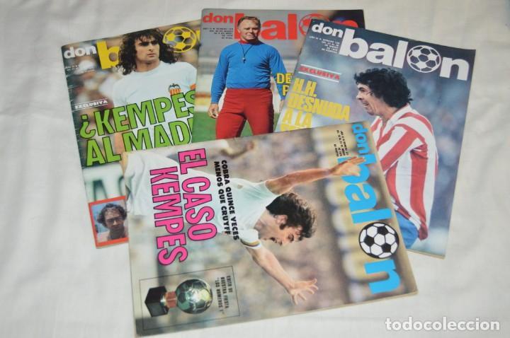 LOTE DE 4 REVISTAS DON BALÓN - AÑOS 70 - Nº 127, 128, 129 Y 131 - GRADESA - HAZ OFERTA - ENVÍO 24H (Coleccionismo Deportivo - Revistas y Periódicos - Don Balón)