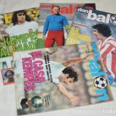 Coleccionismo deportivo: LOTE DE 4 REVISTAS DON BALÓN - AÑOS 70 - Nº 127, 128, 129 Y 131 - GRADESA - HAZ OFERTA - ENVÍO 24H. Lote 142240070